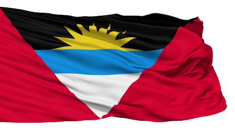 Waving national flag of Antigua and Barbuda LOOP - stock footage