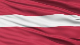 Waving national flag of Latvia LOOP