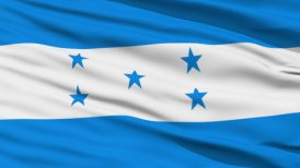Waving national flag of Honduras LOOP
