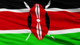 Waving national flag of Kenya LOOP
