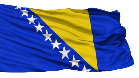 Waving national flag of Bosnia and Herzegovina LOOP - stock footage