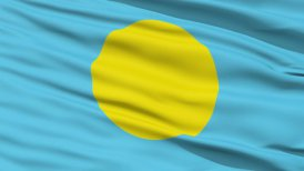 Waving national flag of Palau LOOP
