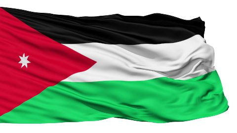 Waving national flag of Jordan LOOP - stock footage