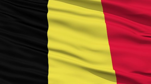 Waving national flag of Belgium LOOP - stock footage