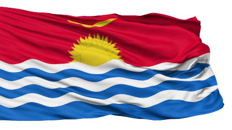 Waving national flag of Kiribati LOOP - stock footage