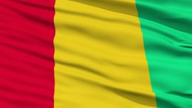 Waving national flag of Guinea Bissau LOOP
