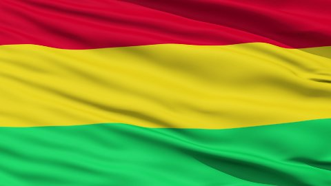 Waving national flag of Bolivia LOOP - stock footage
