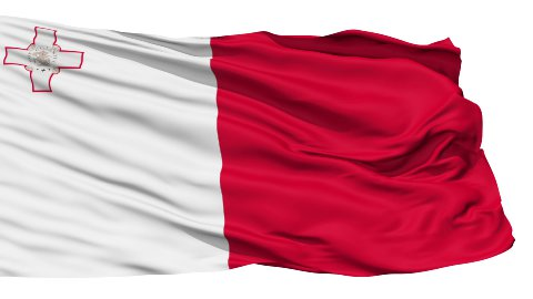 Waving national flag of Malta LOOP - stock footage
