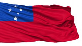 Waving national flag of Samoa LOOP