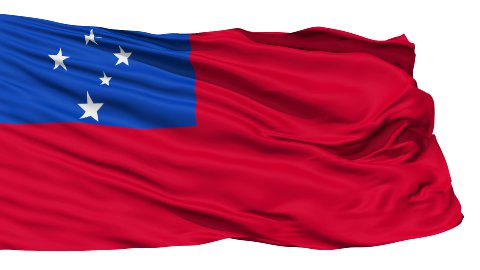 Waving national flag of Samoa LOOP - stock footage