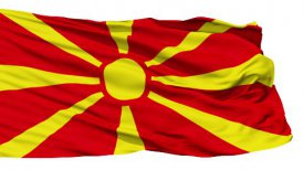 Waving national flag of Macedonia LOOP