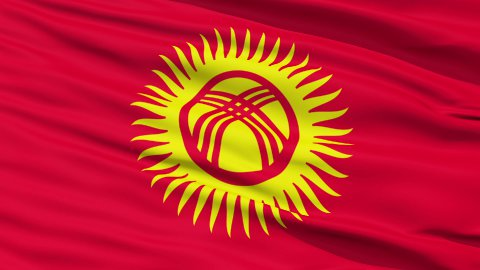 Waving national flag of Kyrgyzstan LOOP - stock footage