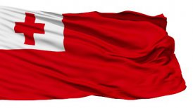 Waving national flag of Tonga LOOP