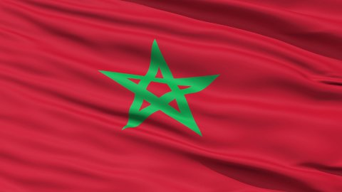 Waving national flag of Morocco LOOP - stock footage