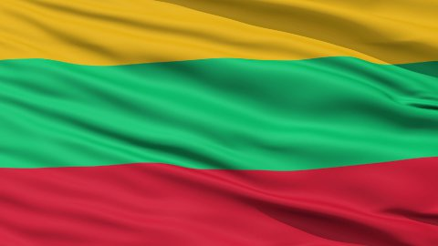 Waving national flag of Lithuania LOOP - stock footage
