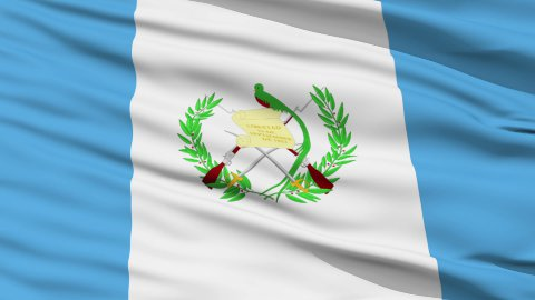 Waving national flag of Guatemala LOOP - stock footage