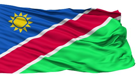 Waving national flag of Namibia LOOP - stock footage