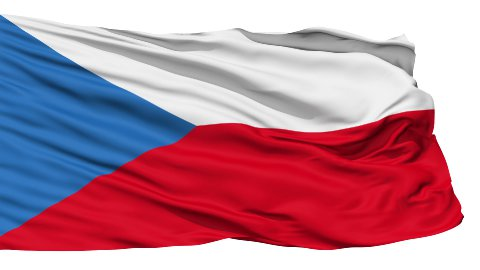 Waving national flag of Czech LOOP - stock footage