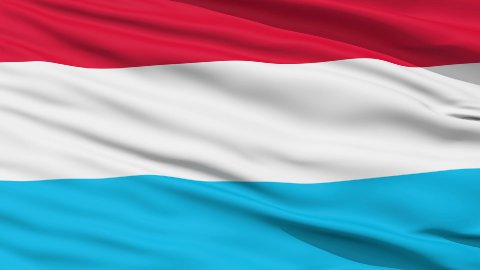 Waving national flag of Luxembourg LOOP - stock footage