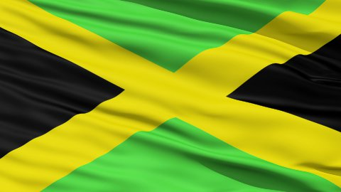 Waving national flag of Jamaica LOOP - stock footage