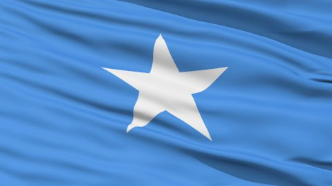 Waving national flag of Somalia LOOP - stock footage