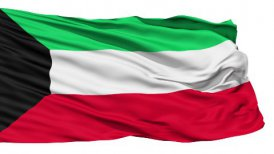Waving national flag of Kuwait LOOP - motion graphic