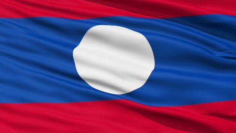 Waving national flag of Laos LOOP - stock footage