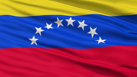 Waving national flag of Venezuela LOOP - stock footage
