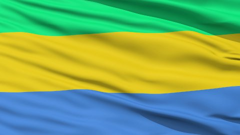 Waving national flag of Gabon LOOP - stock footage