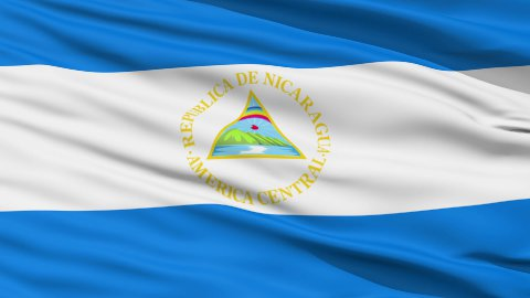 Waving national flag of Nicaragua LOOP - stock footage