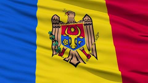 Waving national flag of Moldova LOOP - stock footage