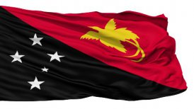 Waving national flag of Papua New Guinea LOOP