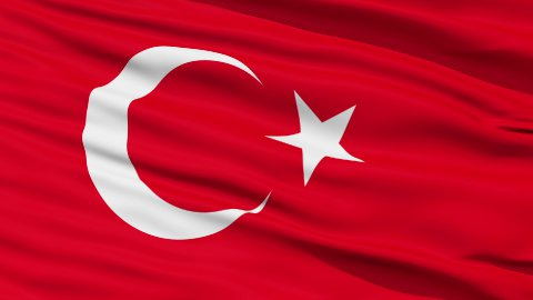 Waving national flag of Turkey LOOP - stock footage