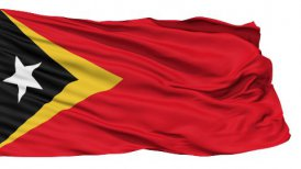Waving national flag of East Timor LOOP
