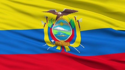 Waving national flag of Ecuador - stock footage