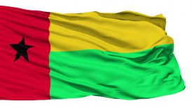 Waving national flag of Guinea Bissau