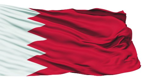 Waving national flag of Bahrain - stock footage