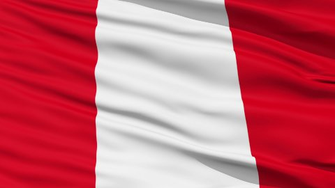 Waving national flag of Peru - stock footage