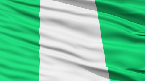 Waving national flag of Nigeria - stock footage