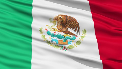 Waving national flag of Mexico - stock footage