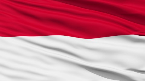 Waving national flag of Indonesia - stock footage