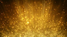 loopable motion background rising gold particles - motion graphic