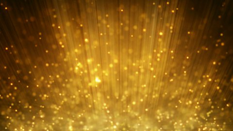 loopable motion background rising gold particles - stock footage
