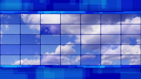 clouds on screens blue loopable background - stock footage