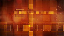 orange abstract loopable background rows of shining squares - motion graphic