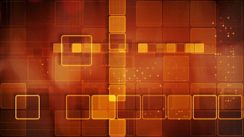 orange abstract loopable background rows of shining squares - stock footage