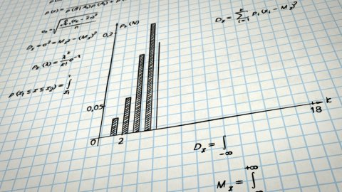 math physics formulas on squared paper tilting loop - stock footage