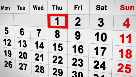 lapse of time calendar 3d - stock footage