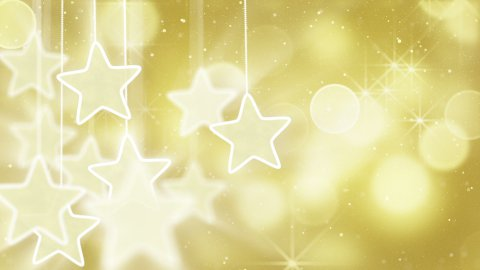 gold stars and bokeh lights loop background - stock footage