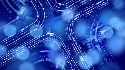 abstract technology blue background loop - stock footage